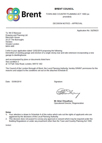 Permission Granted Letter