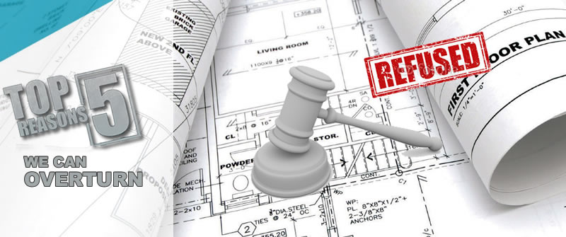 Five top reasons for refusal of planning application