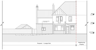 planning permission granted at : 1 Langley Park, London, NW7 2AA