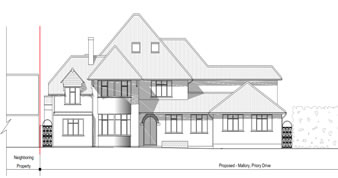 planning permission granted at : Mallory , Priory Drive , Stanmore , Harrow , HA7 3HN