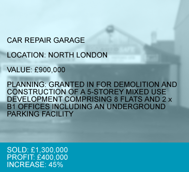 CASE 1 : CAR REPAIR GARAGE - NORTH LONDON