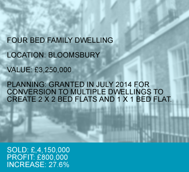 CASE 2 : FOUR BED FAMILY DWELLING – BLOOMSBURY