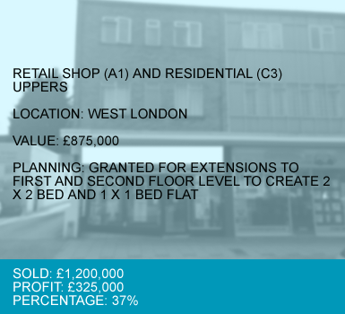 CASE 4 : RETAIL SHOP (A1) AND RESIDENTIAL (C3) UPPERS