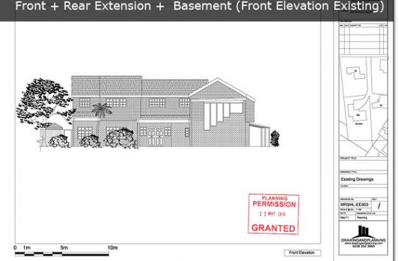 Front Elevation Extension : Planning drawings for front extension drawing and