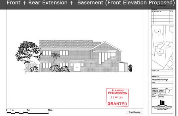 Front Elevation Planning Permission : Planning drawings for front extension drawing and
