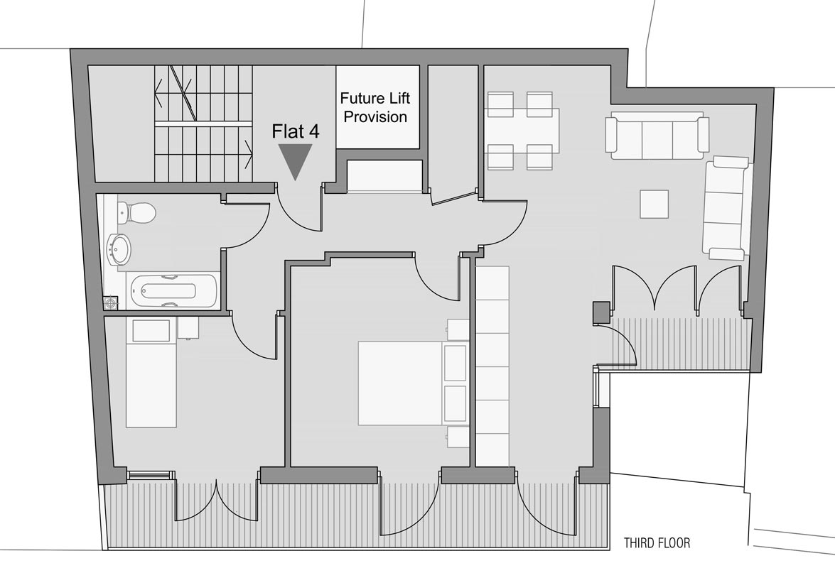 Design Of Five New Residential Flats Drawing And Planning Planning Permission Consultants