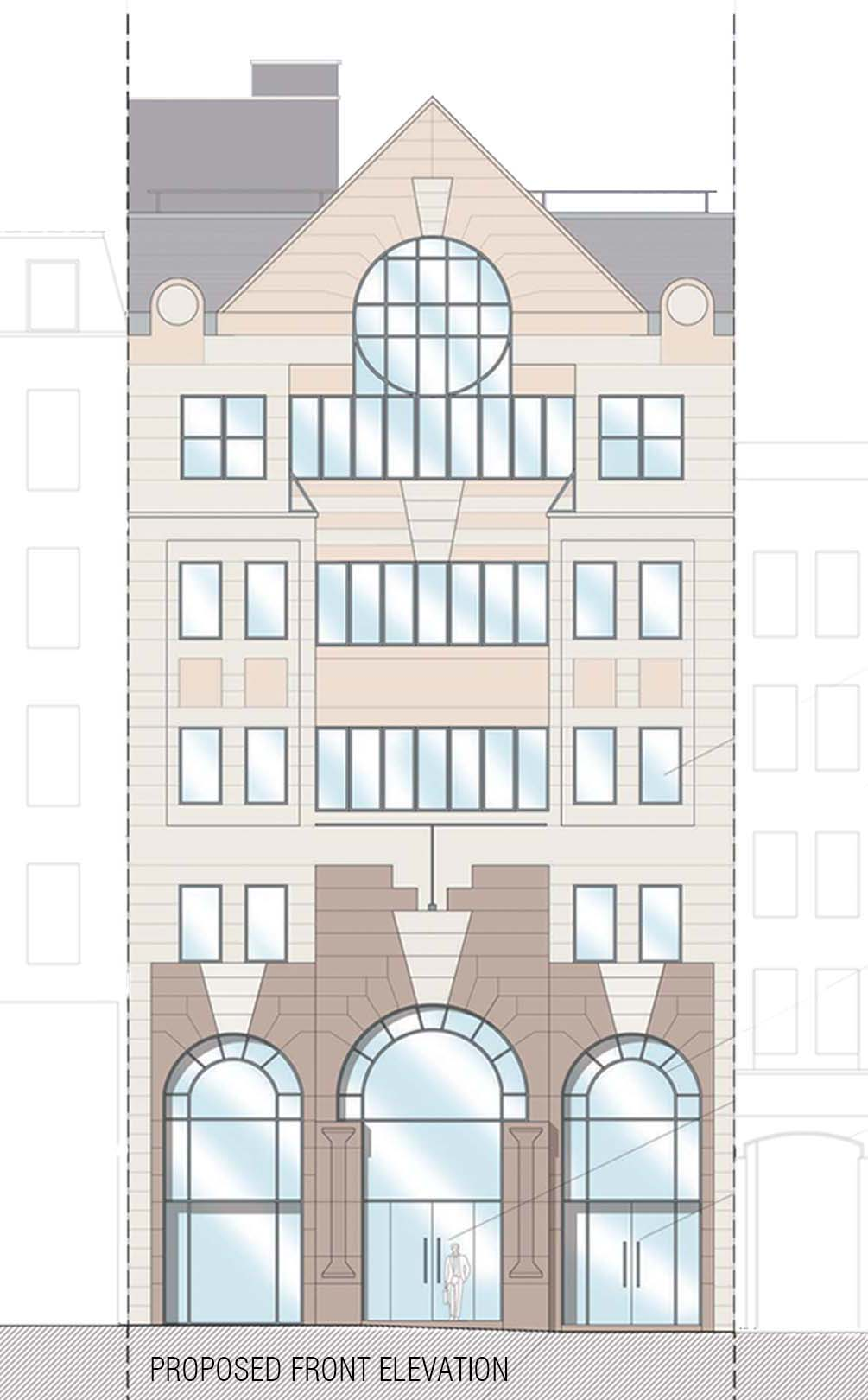 Front Elevation Planning Permission : Alterations to front elevation drawing and planning